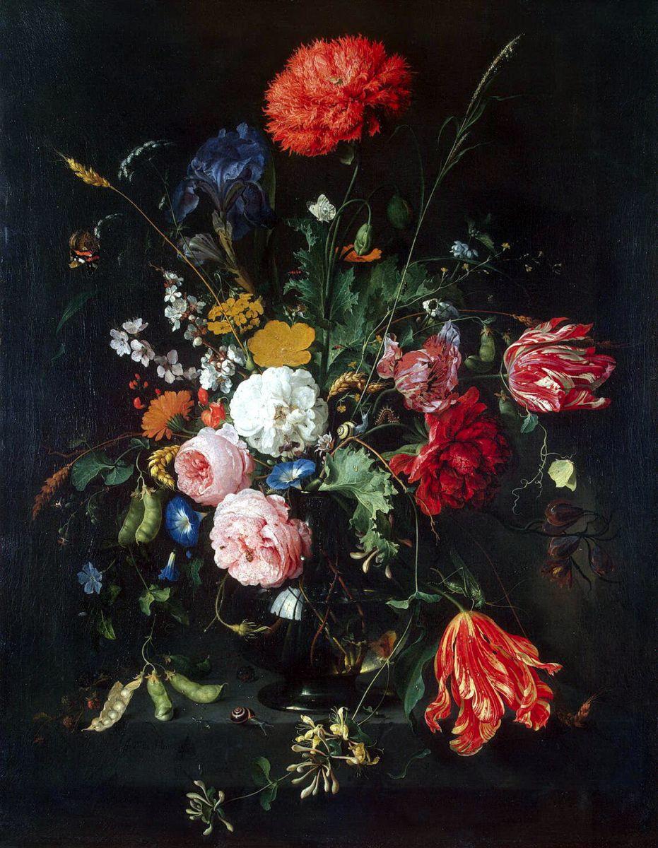 Ян Давидс де Хем, «Цветы в вазе»